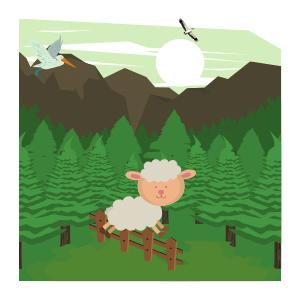 Sheep funny mood dancing