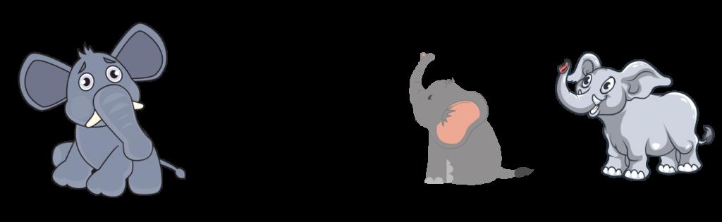 animal rhyme elephant
