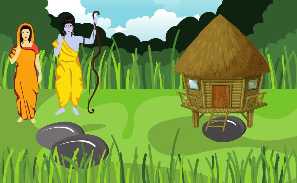 sita and rama in jungle