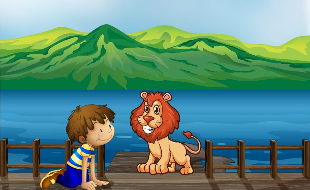 Androcles and the lion story