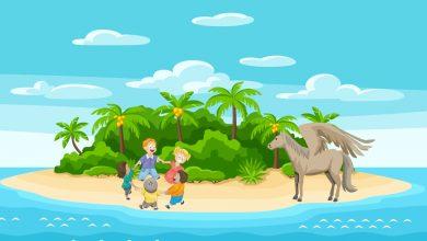 kids on island